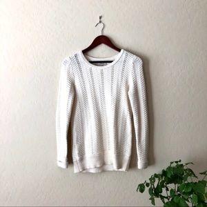 ANN TAYLOR LOFT cozy cream sweater top